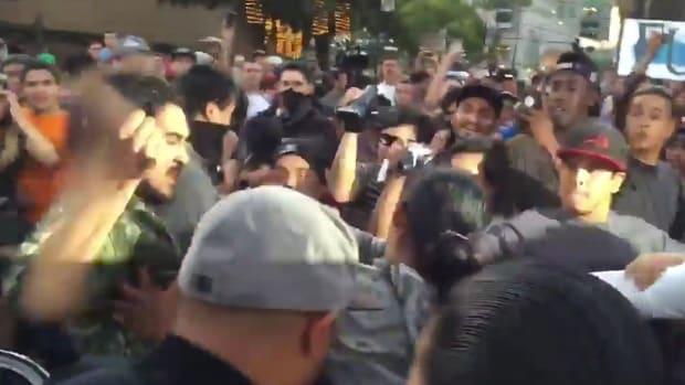 Protesters Attack Trump Supporters In San Jose (Video) Promo Image
