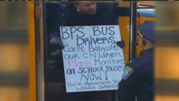 Grandmother Protests Outside School Bus, Gets Arrested Promo Image