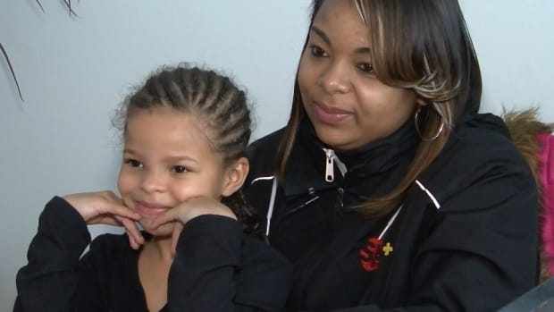 LaMiya Tucker and her mother
