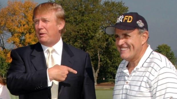 Rudy Giuliani Says He's Voting For Trump Promo Image