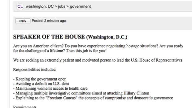 dems post fake craigslist ad for speaker of the house
