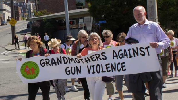 Grandmothers Against Gun Violence Protest In Seattle