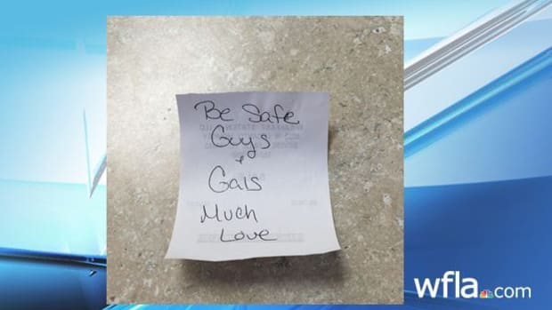 Note that customer left for fire rescue crew