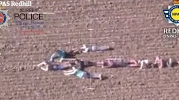 Kids Form Human Arrow To Point Police To Suspects Promo Image