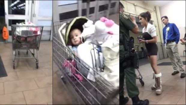 Suspected Shoplifter Runs, Leaves Baby In Cart (Video) Promo Image