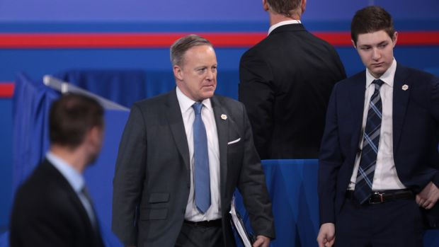 Sean Spicer No Longer Leads Press Hearings Promo Image