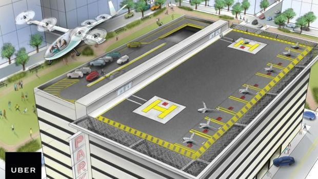 Uber Predicts Flying Car Service Available By 2026 Promo Image