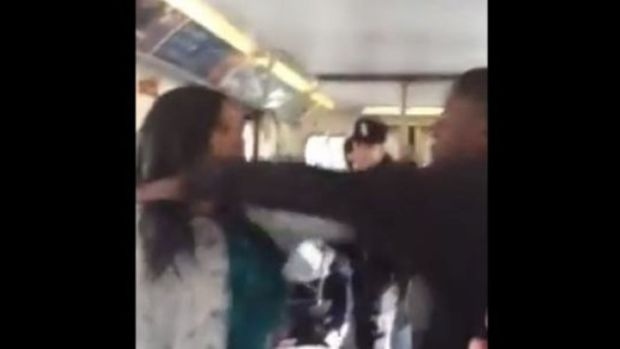 Teen On Subway Gets In Mother's Face, Shoves Her -- Then She Pulls Something Out Of Her Purse (Video) Promo Image