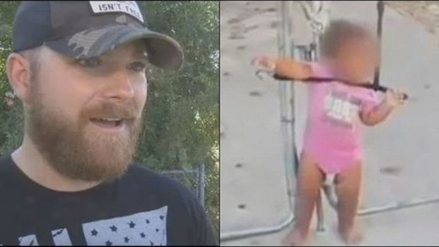 Toddler Found Strapped To Fence (Video) Promo Image
