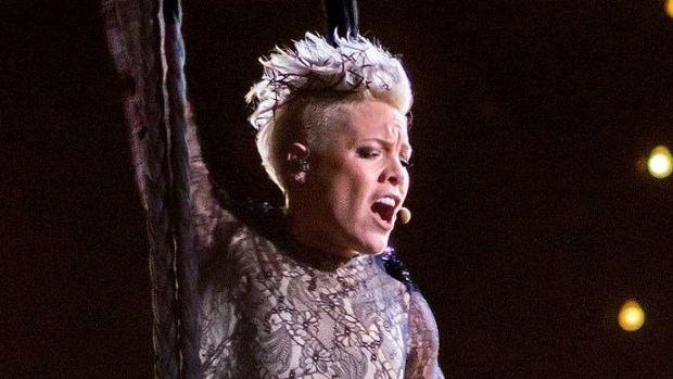 Pink Responds To Critics After National Anthem Promo Image