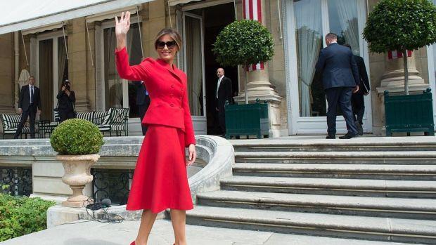 Melania Trump Announces First Solo Trip Promo Image