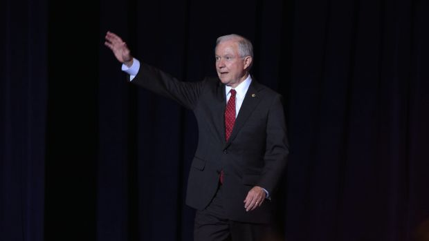 Sessions' Visit To Georgetown Sparks Protest Promo Image
