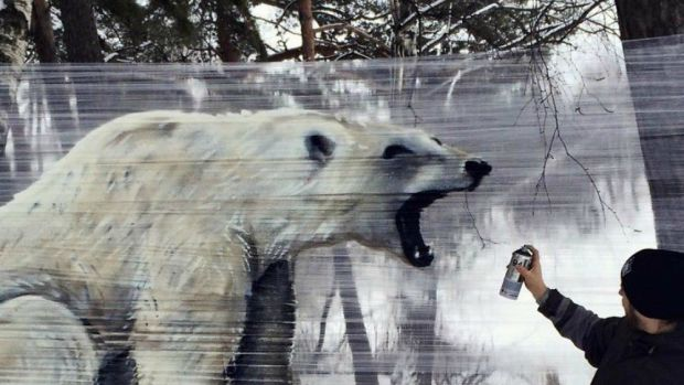15 Images Sprayed On Plastic Wrap Promo Image
