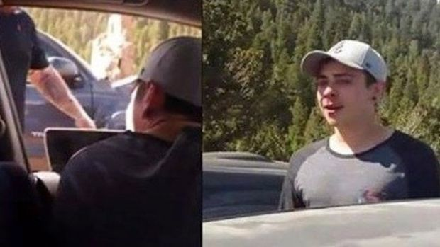 Smug Kid Cuts Off The Wrong Car, Not Laughing When He Sees Who Gets Out Promo Image