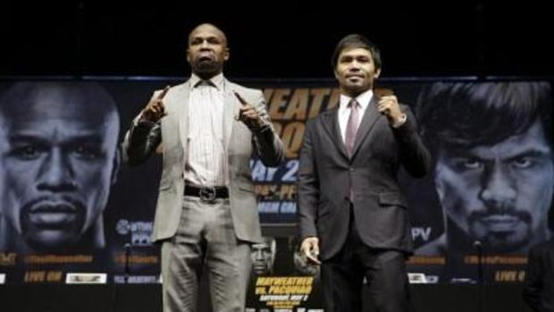 Floyd Mayweather and Manny Pacquiao.