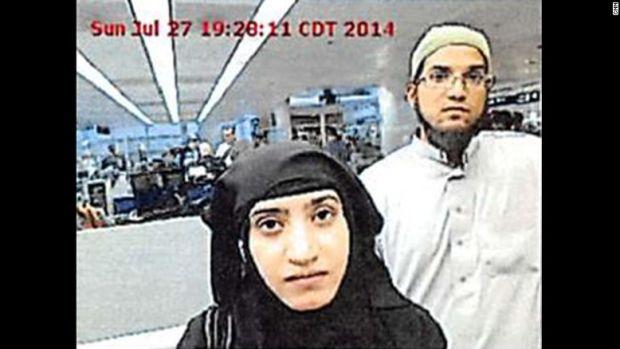 Syed Farook and Tashfeen Malik at O'Hare Airport.