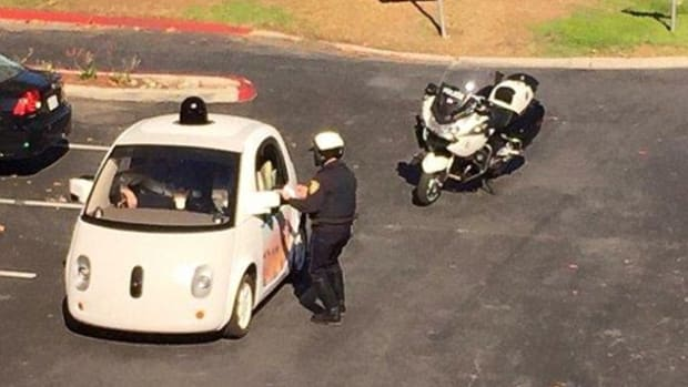 Google Self-Driving Car Pulled Over.