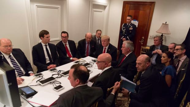 Trump Orders Syria Airstrike From Room In Mar-A-Lago (Photo) Promo Image
