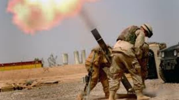 Firing Mortars.
