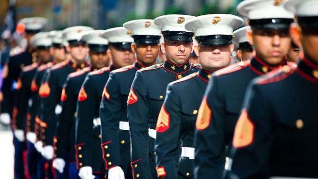 Marines marching