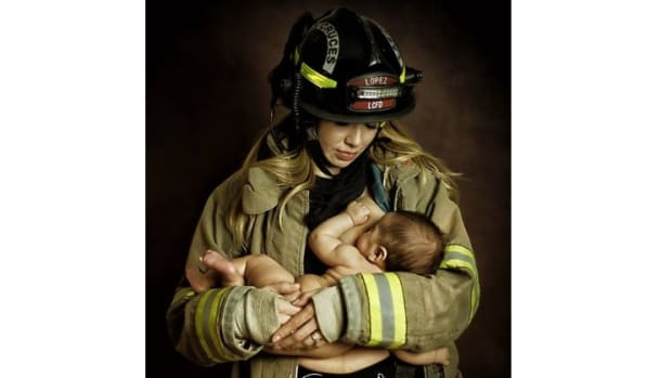 Here's The Photo That Could Get One Firefighter Fired (Photo) Promo Image