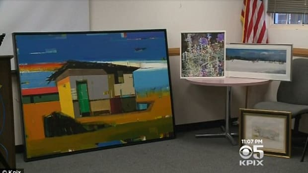 A man sold over $300,000 worth of stolen artwork on social media and to pawn shops; artwork taken from a home he was illegally squatting in.