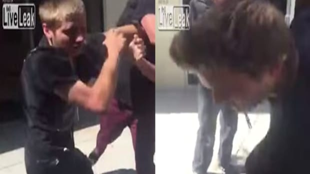 Bully attacking blind teen