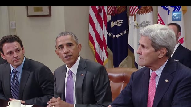 President Obama and Secretary of State John Kerry at the White House