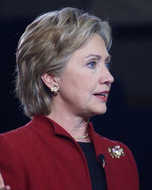 Hillary Clinton speaking in 2007