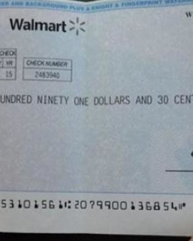 If You Get This Check In The Mail From Walmart, Throw It Away Immediately Promo Image