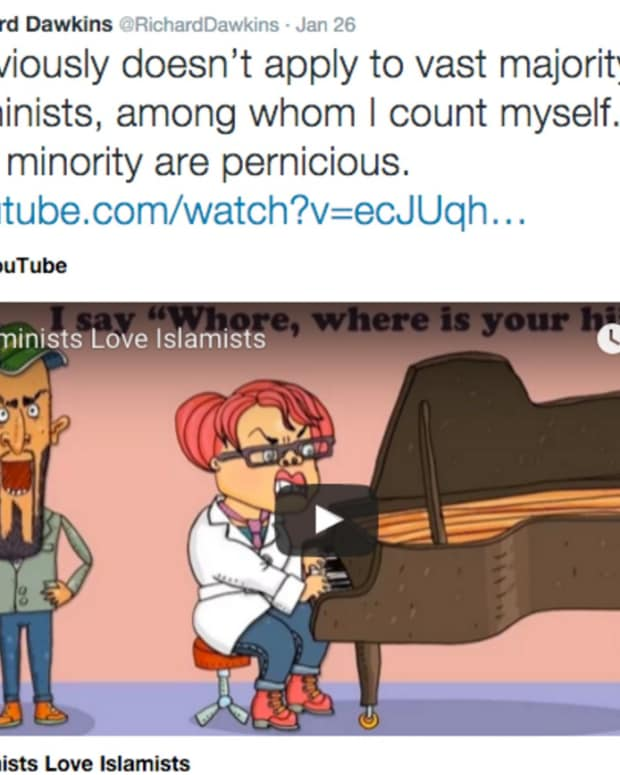Dawkins' controversial tweet