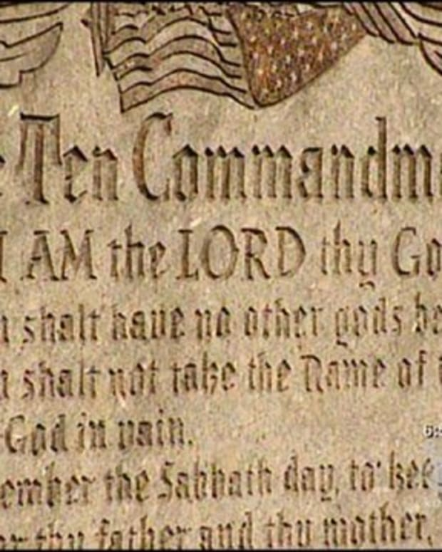 A Ten Commandments Monument In The New Kensington School District, Pennsylvania.