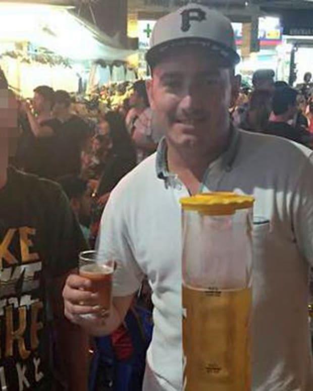 Peter Nicholson Drinking