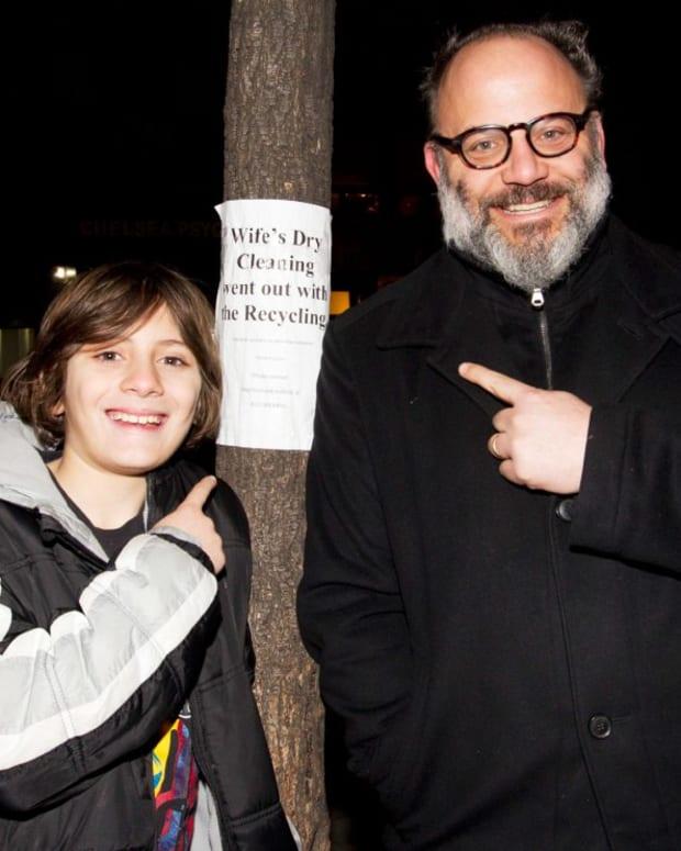 Michael Farrah and his son Finn