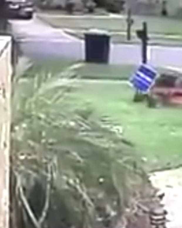 Landscaper Runs Over Trump Sign With Lawn Mower (Video) Promo Image