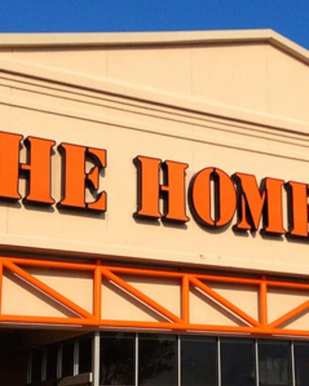 a Home Depot store sign