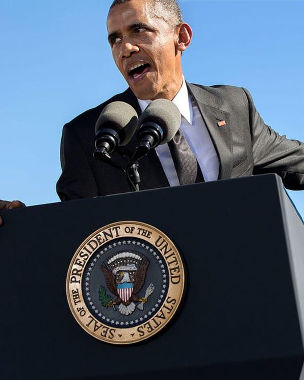 Obama at the bridge in Selma