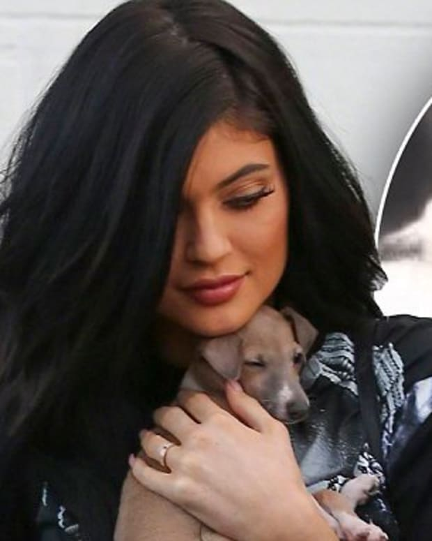 Kylie Jenner with dog Bambi