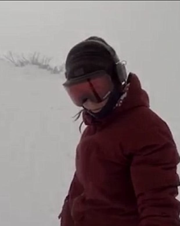 Unsuspecting Snowboarder Chased By Bear (Video) Promo Image