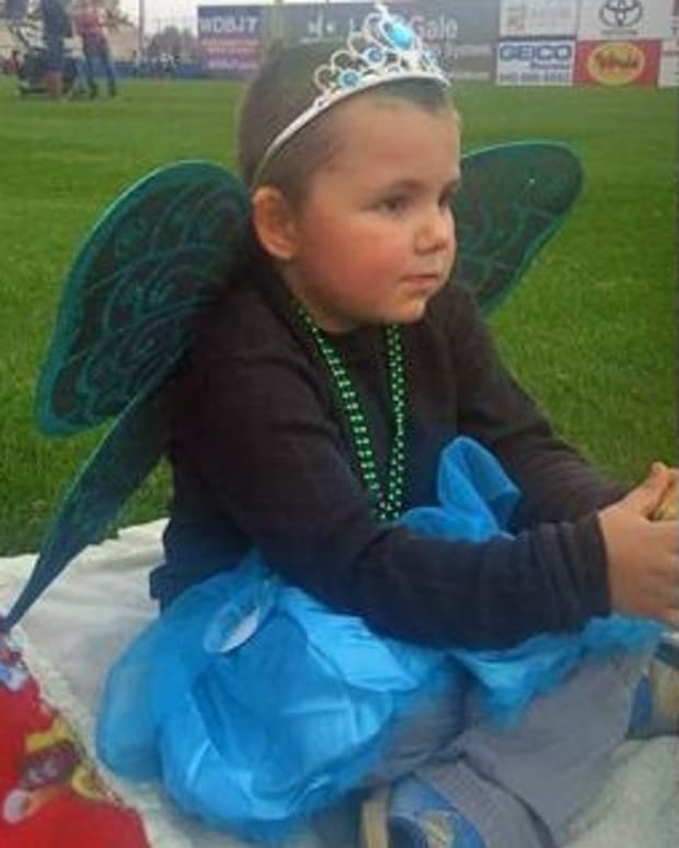 stephanie manus' son wearing a butterfly princess costume