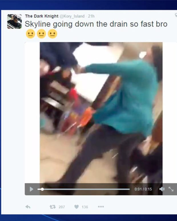 video of attack on Twitter