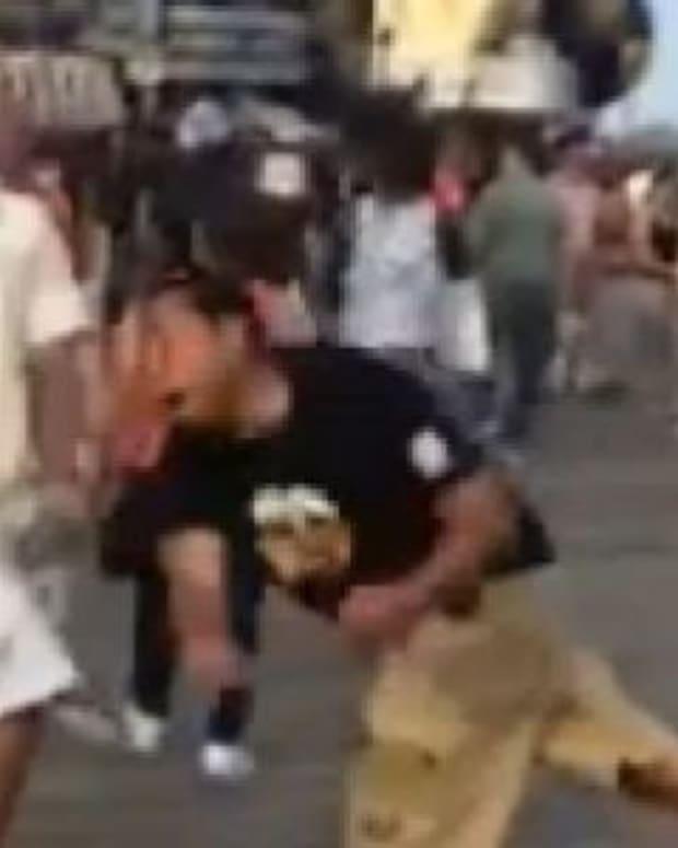 Footage Of How Vendor Dealt With Belligerent, Violent Bully Quickly Goes Viral Promo Image