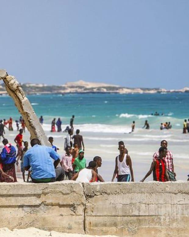 Lido Beach, Mogadishu, Somalia.