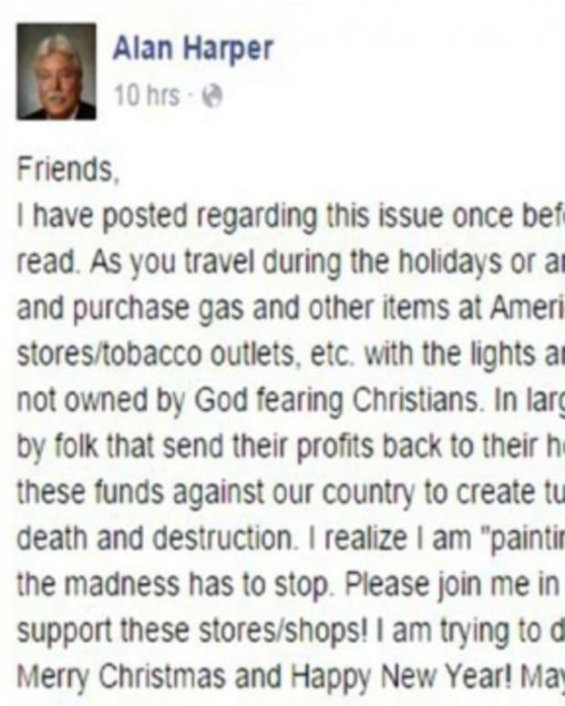 Alan Harper Facebook Post.