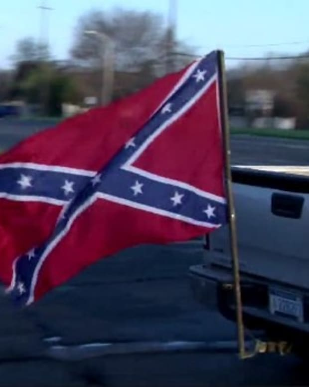 Teen Suspended Over Confederate Flag On Vehicle (Photo) Promo Image