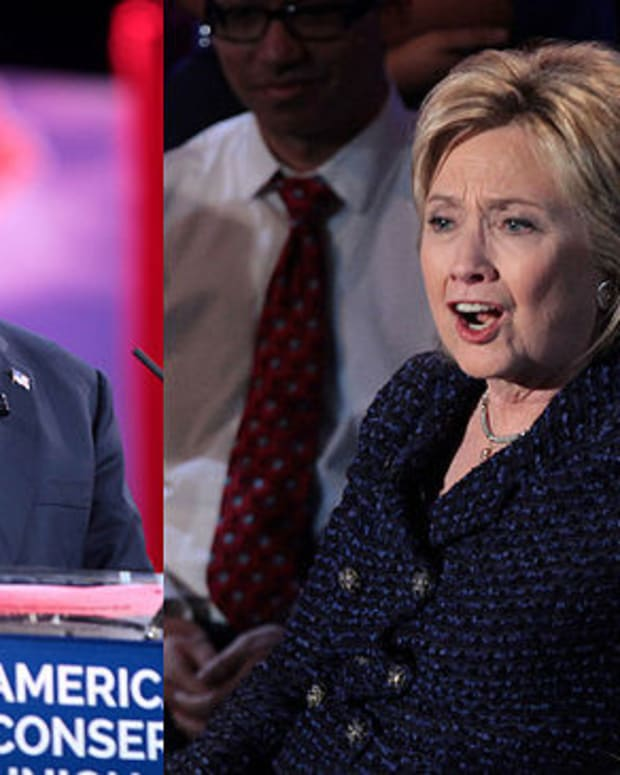 Poll: Clinton, Trump Tied Early In Swing States Promo Image