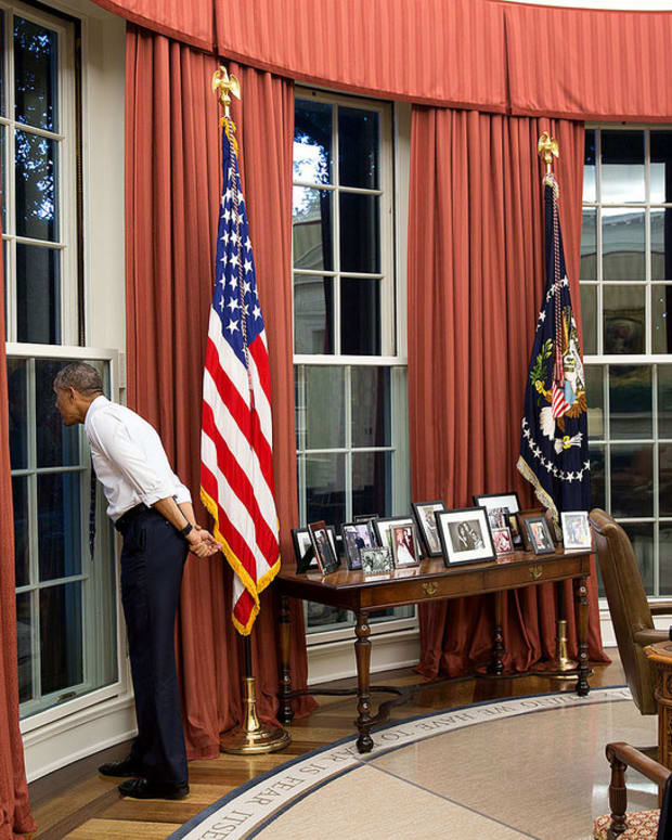 U.S. President Barack Obama in the Oval Office