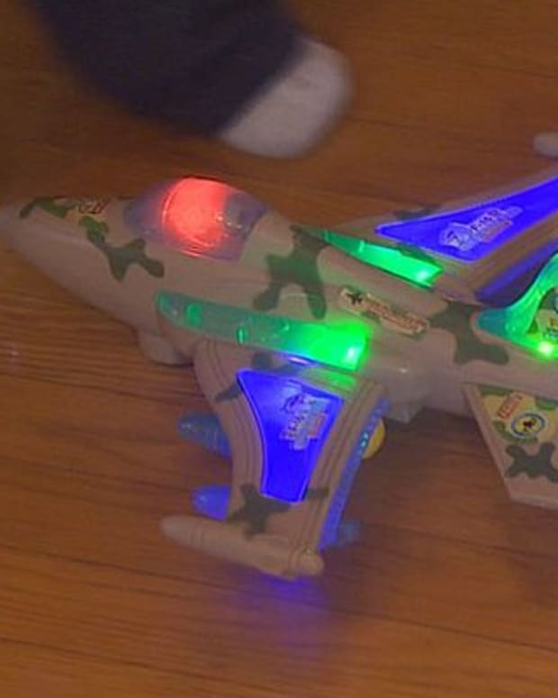toy plane that Bjorn Thorpe bought for his nephew
