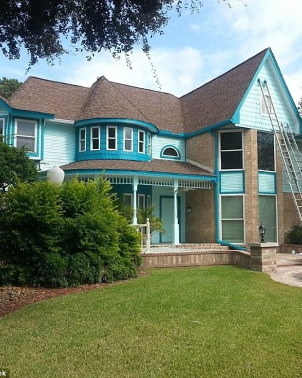 house painted teal
