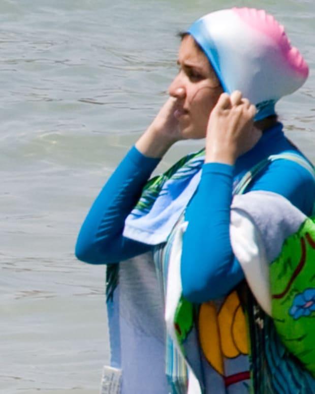 "Muslim ""Burkini"" Swimsuits Spark Debate In Europe Promo Image"